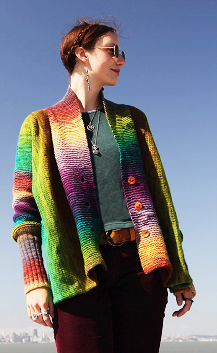 Knitty : Agata cardigan: Deep Fall 2013