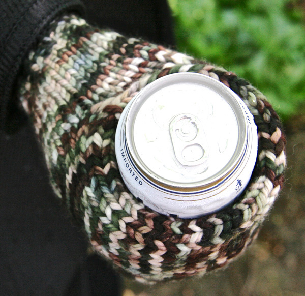 Knit Koozie Pattern : Beer mitt : Deep Fall 2013