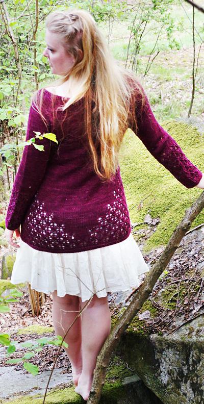 蕾丝花纹开衫  - Krydda原文图解 - Tina - Tina的手工编织的博客
