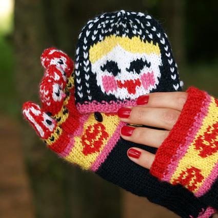 "Набор  ""Матрёшка "": варежки + перчатки + митенки. для увеличения нажать на..."