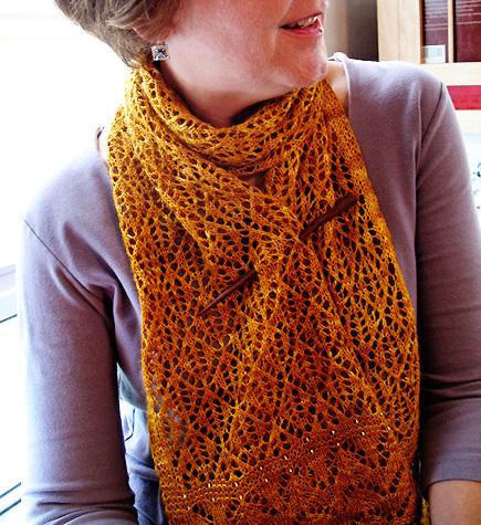 Kernel Scarf Knitty Fall 2009