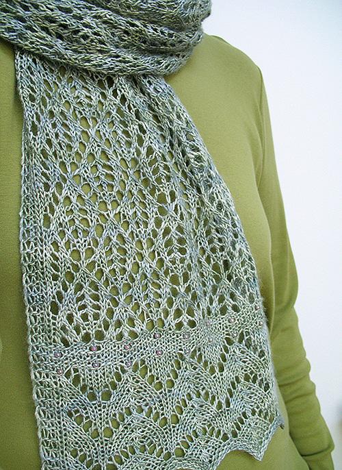 Crochet Kernel Stitch : Kernel scarf - Knitty: Fall 2009