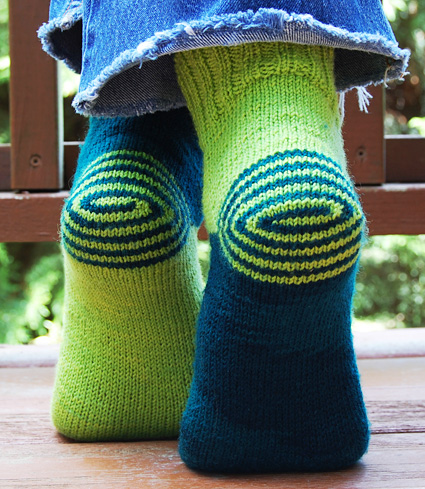 Pattern For Socks In Double Knitting : Double Heelix sock: Knitty Spring+Summer 2011