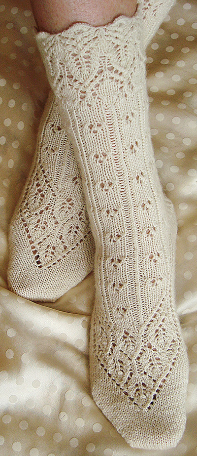 Knitting Socks Design : Lingerie sock knitty first fall