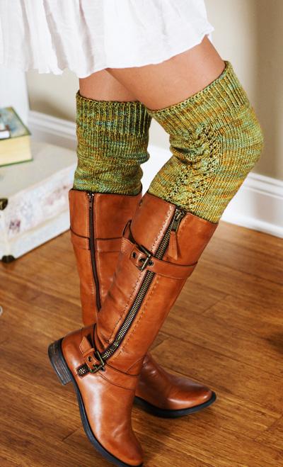 DIY thigh high legwarmers knitting pattern