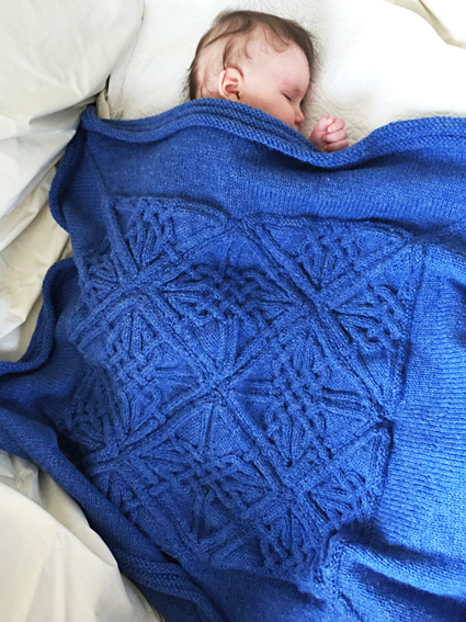 Dunfallandy Cabled Blanket Knitty Com First Fall 2015