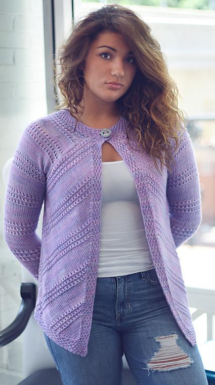 Nelina cardigan knitting pattern by Corrina Ferguson. Pattern & images © 2015 Corrina Ferguson. A free new knitting pattern.