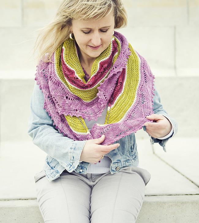 "Knitty2016秋季披肩 ""倦怠"" - maomao - 我随心动"