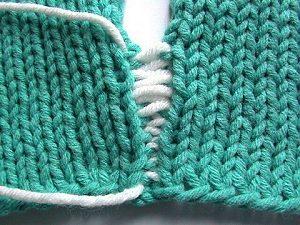 Mattress Stitch Seam