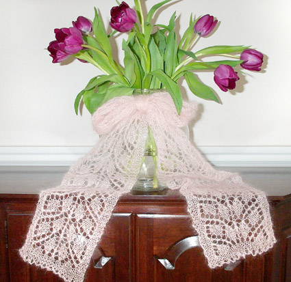 СПИЦЫ: техники и узоры. вязание шарфов спицами фото - вязание.