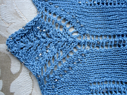 Knitting Stitches With Beads : Knitty: editorial spring 06