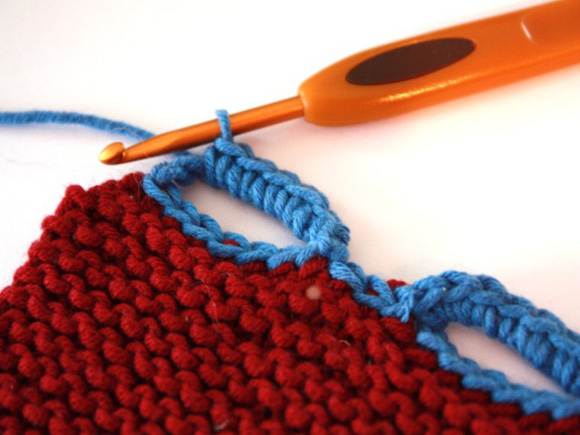 Crocheting Loops : Single crocheting over the chained loop stabilizes the button loop ...