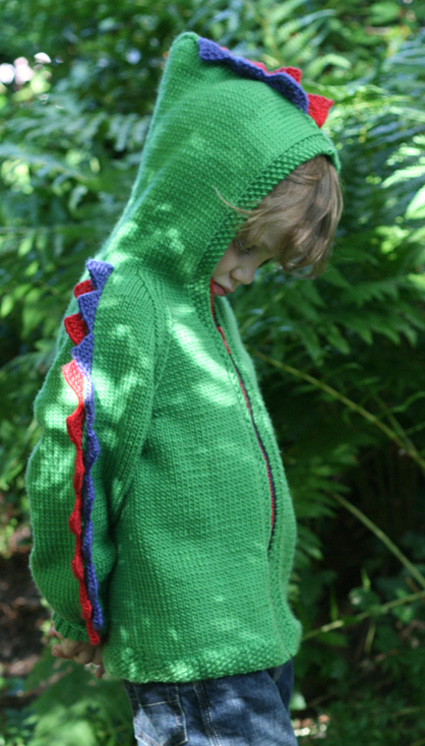f19bb471ef363f Steggie Kids  Dinosaur Cardigan - Knitty