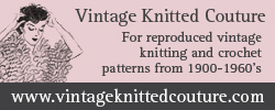 vintage knitted couture