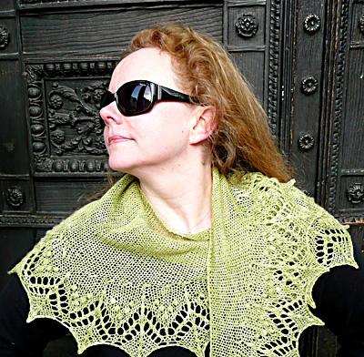 开始织酷芝麻博客上的新月披肩 - Daphne - 因为爱所以爱