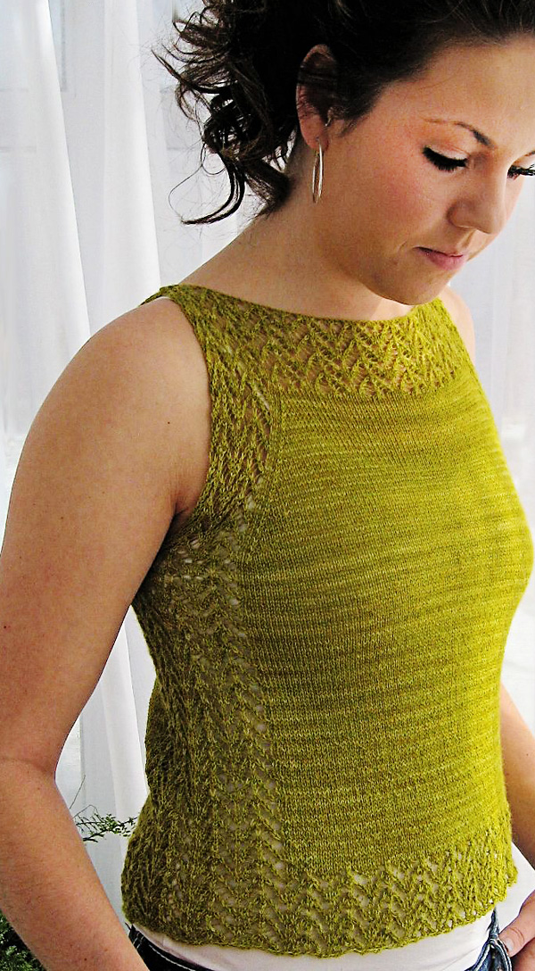 Etherial tank: Knitty Spring+Summer 2013
