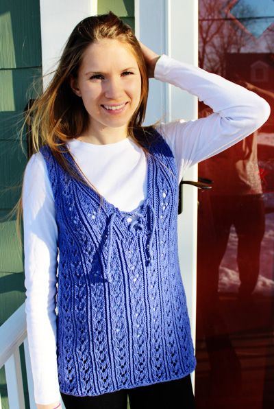 Knitting Patterns Free Links Gorgeous Women S Vest Top Free