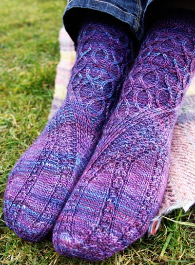 Knitting Socks Picking Up Stitches For Gusset : Slipstream sock : Knitty Spring+Summer 2013