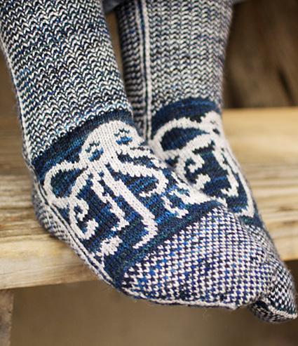 Octopodes Socks Knitty Spring Summer 2014