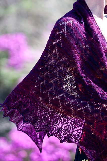 Knitty : Regenerate shawl : Knittyspin Spring+Summer 2014
