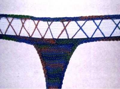 with crochet hook work 1 row of single crochet around all edges  knitty    rh   knitty