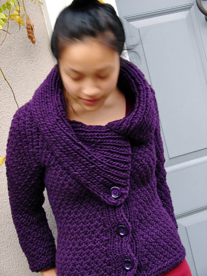 Knitty : Jacqueline cardigan : Knitty Winter 2011