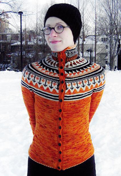 Oranje Fair Isle Cardigan Knitty Winter 2011