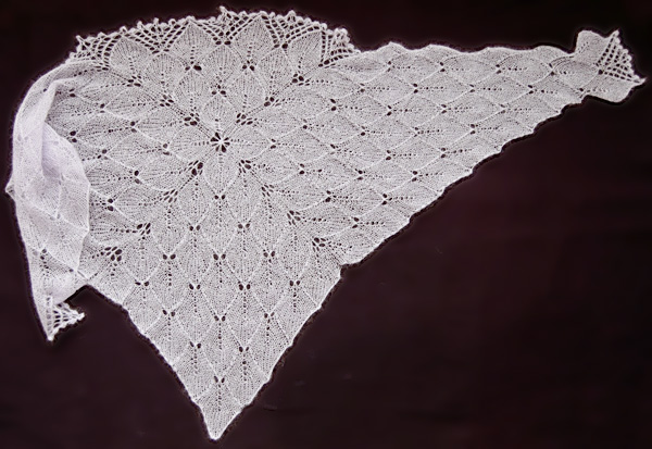 Lilaceous shawl: Knitty Winter 2012