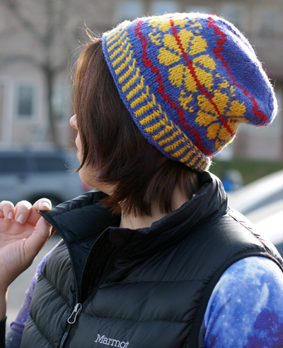 Slouchy Saami hat  (Ethnic Knitting Adventures)  Knitty Deep Fall 2014 a9c63f0ee1a