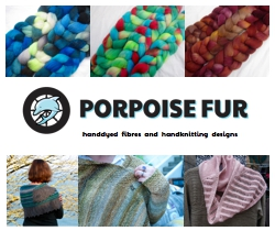 Porpoise Fur Handyed Fibers and Yarns