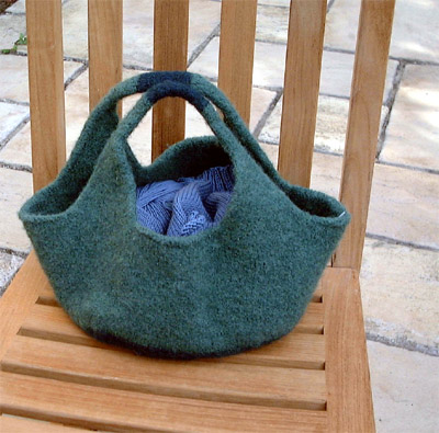 knitty.com :  indie felted bag knittting instructions diy knitter
