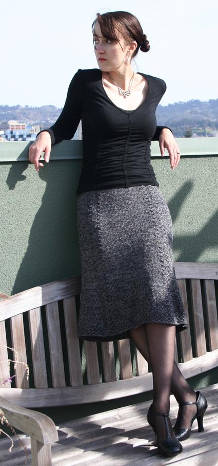 Bell Curve Skirt Winter 2007 Knitty