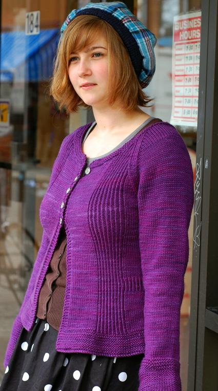 Amelia -紫色开衫原文图解 - Tina - Tina的手工编织的博客