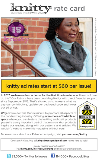 Rate Card : Knitty com - First Fall 2019