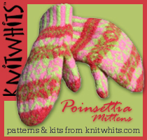 Knitwhits Poinsettia Mittens